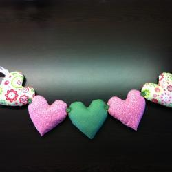 Gorgeous Padded Heart Bunting